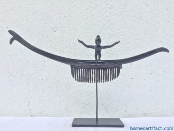 SISIR BATAK HAIRPIN 290mm CROWN Comb Headdress Pin Statue Figure Tribal Jewelry