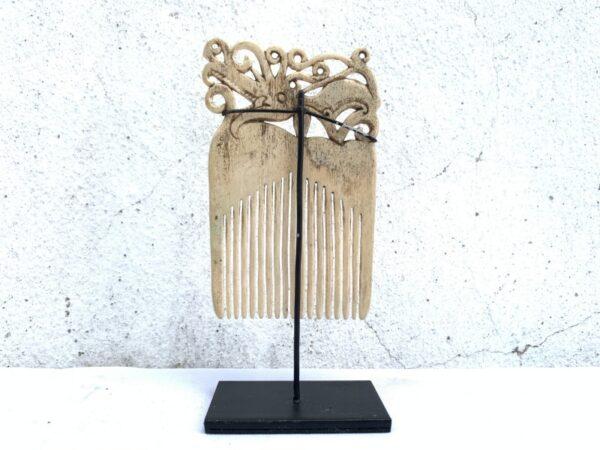 SEA DAYAK 110mm IBANIC HEADDRESS Hairpin Comb Crown Dayak Tribal Artifact