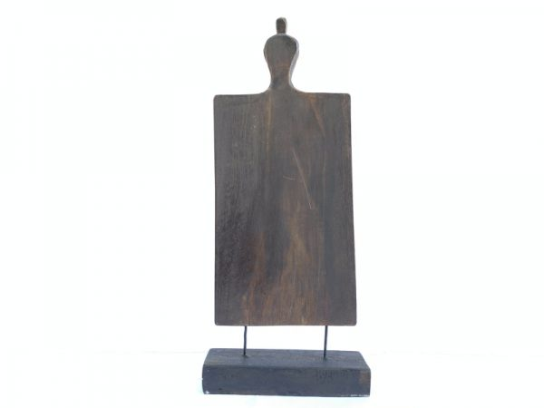 TRIBAL CUTTING BOARD 395mm Papan Hiris Indonesia Panel Carving Art Statue Figure
