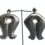 ANTIQUE TRIBAL EARRING (1 Pair) Native Sumba Mamuli Old Jewelry Jewel Ear Weight Body Adornment Artifact
