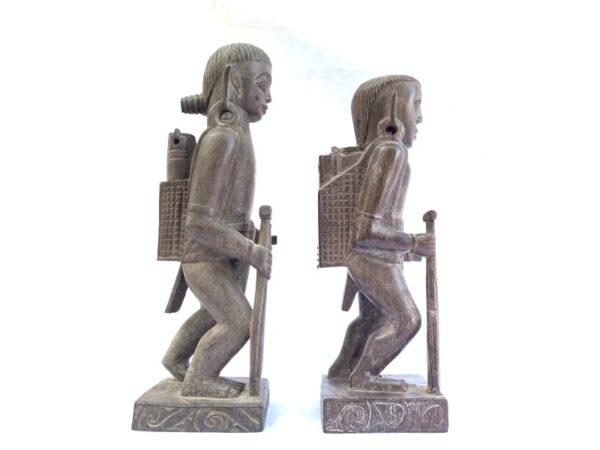 DAYAK ANCESTRAL WARRIOR Authentic Antique Statue Sculpture Image Figure Home