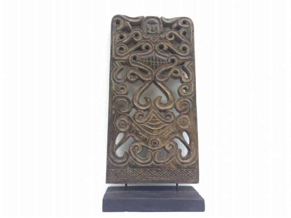 tribal panel 540mm dayak kaharingan figure statue native sculpture carving asia