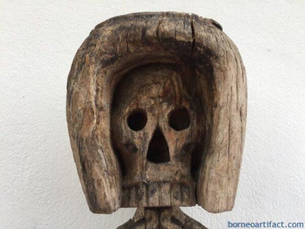 KORWAR SKULL STATUE 630mm MEGA RARE Oceanic Sculpture Tribal Figure Indonesia