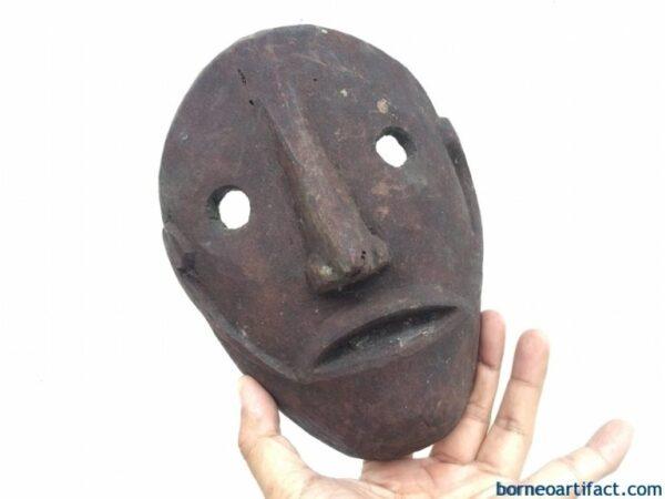 IBAN MASK Headhunter Borneo Facial Masque Tribal Face Topeng Dayak Statue Sculpture