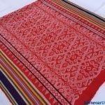 BRIGHT RED SARONG BIDAN DAYAK XXXL Tribal Skirt LADIES GARMENT DRESS BORNEO #302