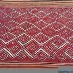 ANTIQUE SUNGKIT SKIRT Dayak Sarong OLD DRESS TEXTILE TRIBAL CLOTH FABRIC #324