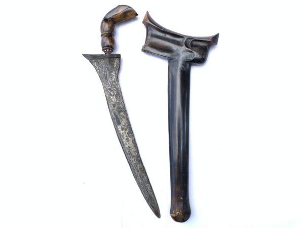 PALEMBANG KRIS 440mm UNUSUAL ANGLED BLADE Weapon Knife Dagger Sword Kriss Arms