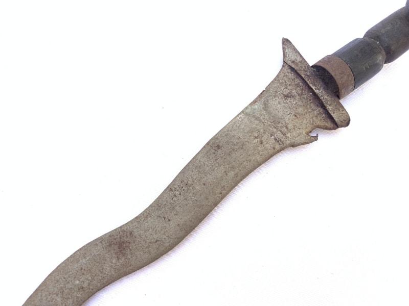 KERIS KALATUA 370mm SCORPION TAIL HILT Kris Weapon Knife Blade Dagger Sword OLD