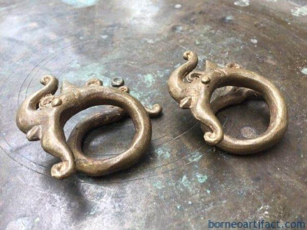 SUPERSIZE 200gram XXXL Tribal Brass Ear-weight Earring Earlobe Enlarger Native Borneo Body Jewelry