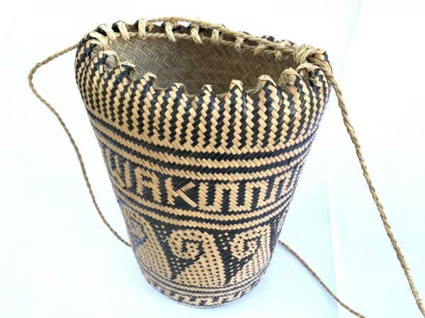BRAND NEW Ajat / Native BASKET Woven Sling Bag Backpack Camping Traditional #4