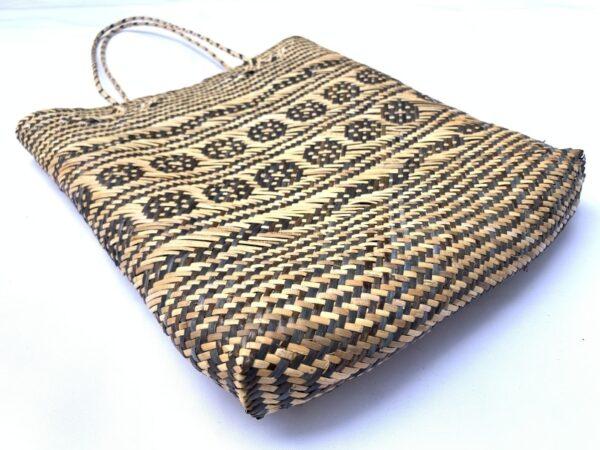 SHOULDER RATTAN BAG 350mm Rectangular Tote Handbag Ajat Traditional Weaving Handmade Tribal #3
