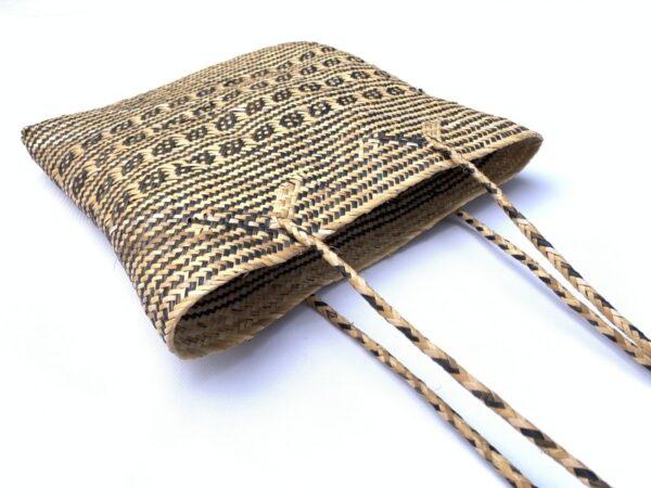 TRADITIONAL RATTAN BAG 310x300mm Rectangular Shoulder Tote Handbag Ajat Weaving Handmade Tribal #5