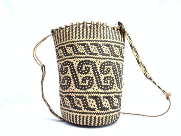 rattan ajat 320mm (creeper vine pattern) handmade bag backpack handbag tribal carrier #5