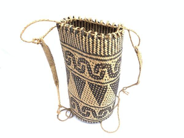 rattan ajat 330mm (bamboo shoot pattern) handmade bag backpack handbag tribal carrier #6