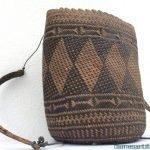 authentic old basket 300mm traditional borneo weaving woven fiber art rattan bag #6