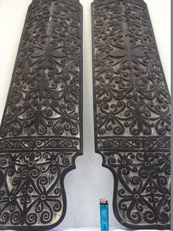 WAR SHIELD BORNEO 1280mm Mega Size Armor Guard Wood Carving Wall Deco Office Home Bar