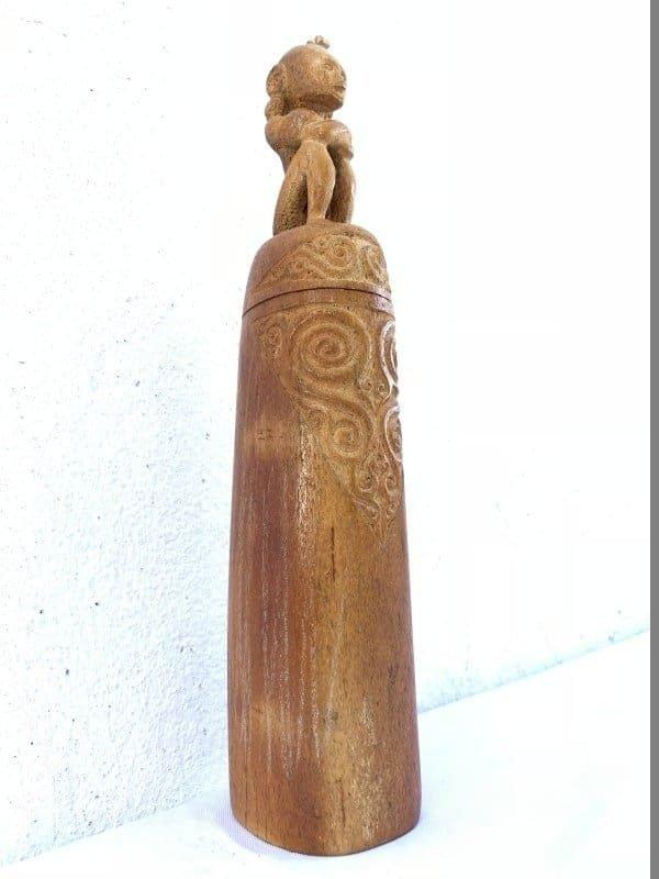 KING LETI 290mm MEDICINE BOX Tribal Asia Asian Culture Art Box Container