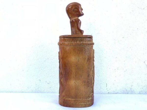 BATAK SIMALUNGUN 240mm BONE BOX Tribal Container Asia Asian Indonesia Artifact
