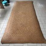 SPECTACULAR HANDWOVEN 2660mm MAT Floor Decoration Asian Home Culture Tribal Fiber Art Weaving
