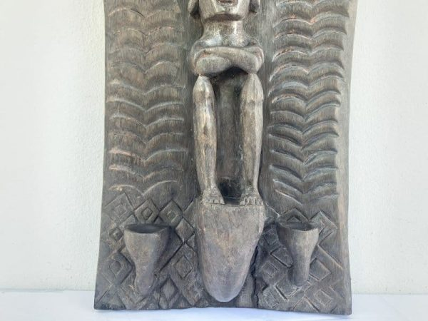 INDONESIAN LETI 660mm ALTAR PANEL Ancestral Figure Statue Sculpture Asian Art Culture Wall Deco