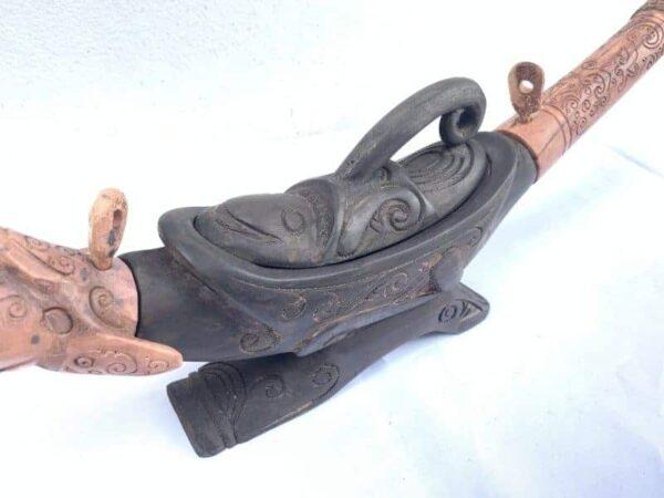BATAK CHAMBER 650mm TRIBAL CONTAINER Jewelry Medicine Statue Sculpture Figurine ASIAN